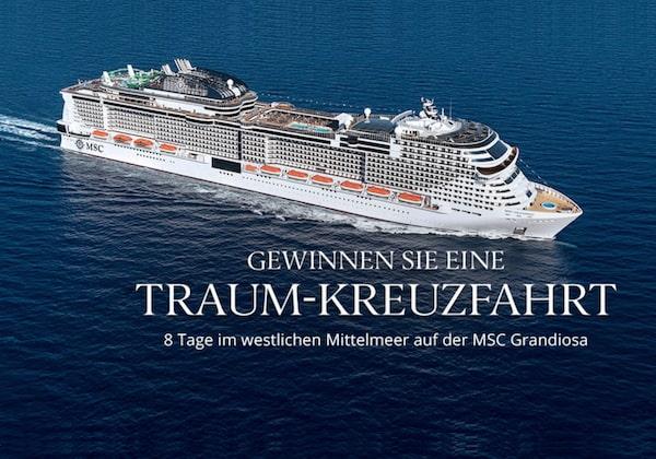 Mittelmeer Kreuzfahrt mit der MSC Grandiosa gewinnen