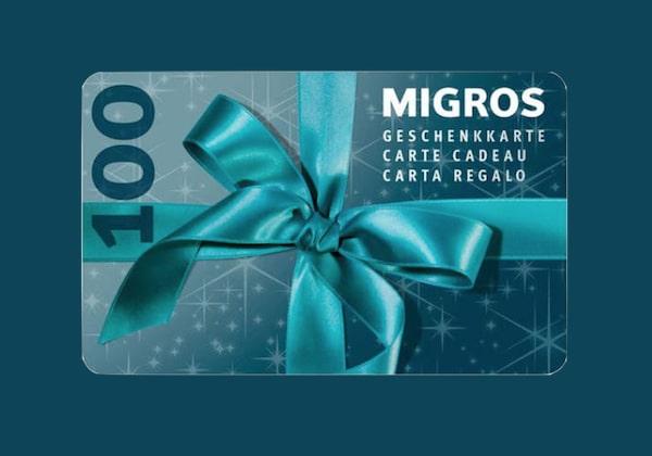 CHF 100 Migros Geschenkkarte gewinnen