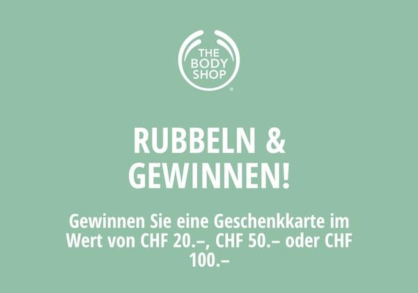 The Body Shop Geschenkkarten gewinnen