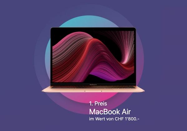 MacBook Air oder Galaxus Gutschein gewinnen