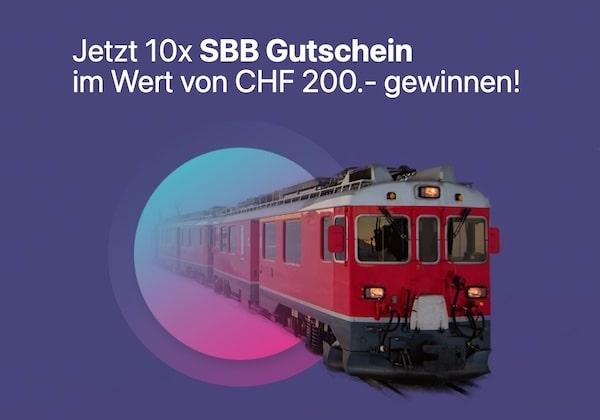 10x SBB Gutschein gewinnen