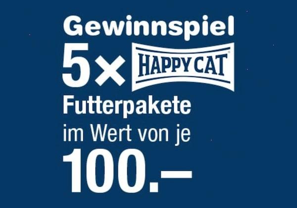 Happy Cat Futterpaket gewinnen