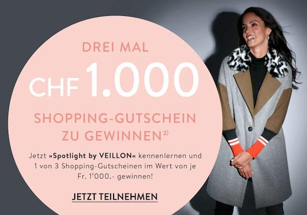 Veillon Shopping-Gutschein gewinnen
