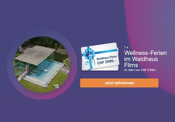 Wellness-Ferien im Hotel Waldhaus Flims gewinnen