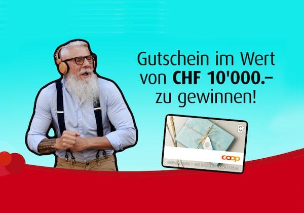 CHF 10'000 Coop Gutschein gewinnen